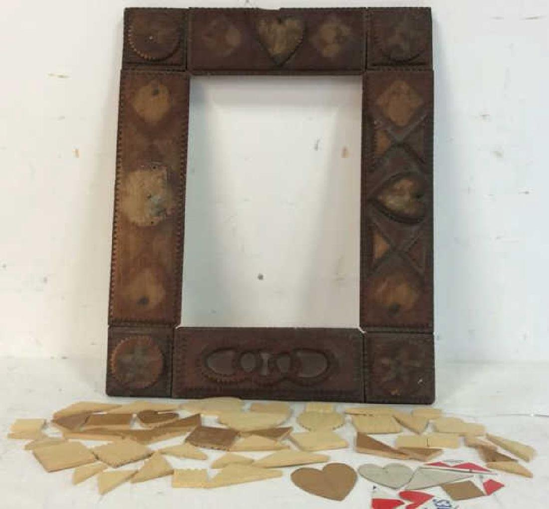 Tramp Art Frame with Additional Pieces