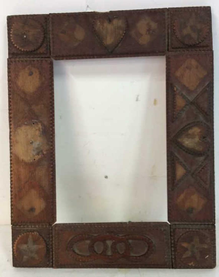 Tramp Art Frame with Additional Pieces - 3