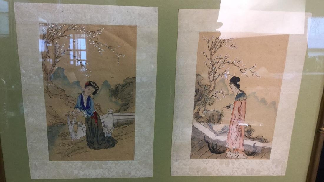 Two Japanese Watercolors In One Frame - 3