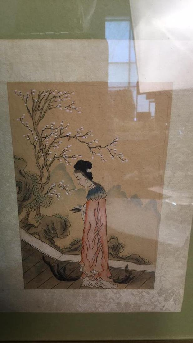 Two Japanese Watercolors In One Frame - 5