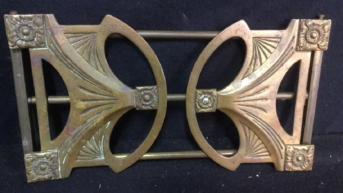 Vintage Brass Expandable Bookrack