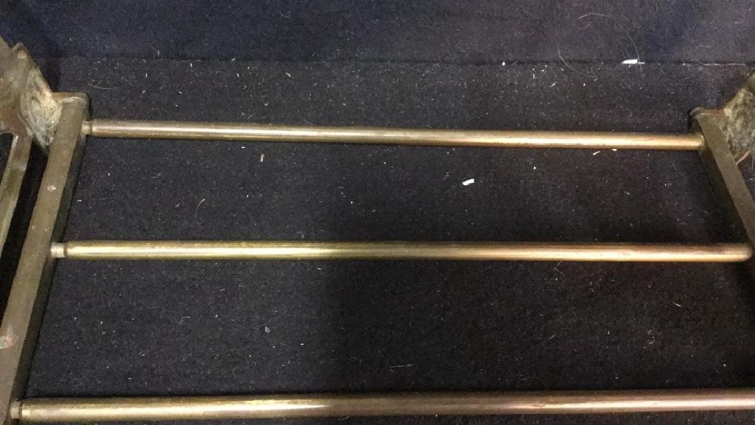 Vintage Brass Expandable Bookrack - 3