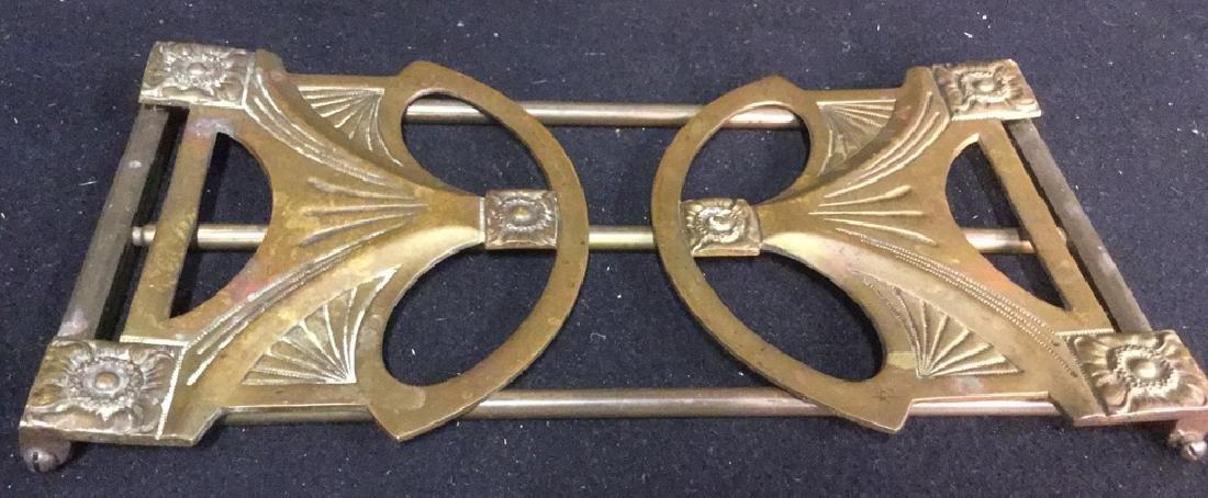 Vintage Brass Expandable Bookrack - 8