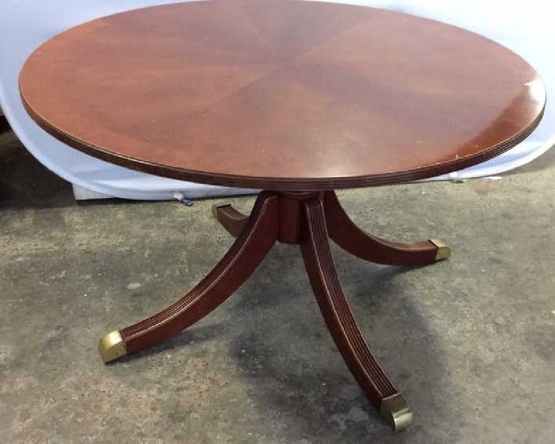 Bernhardt Polished Cherry Round Dining Table