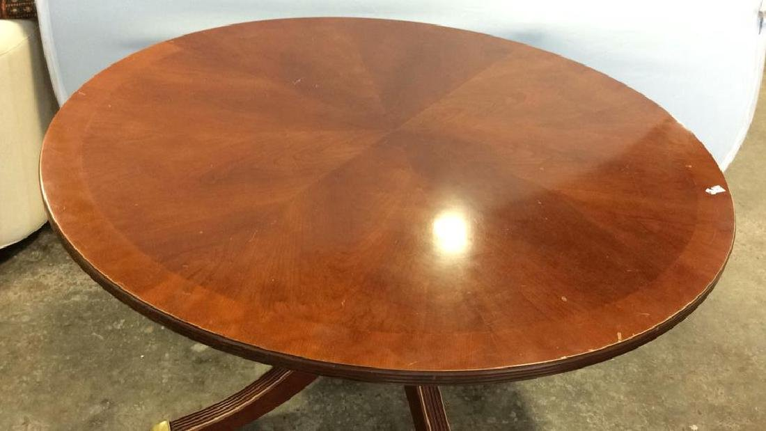 Bernhardt Polished Cherry Round Dining Table - 2