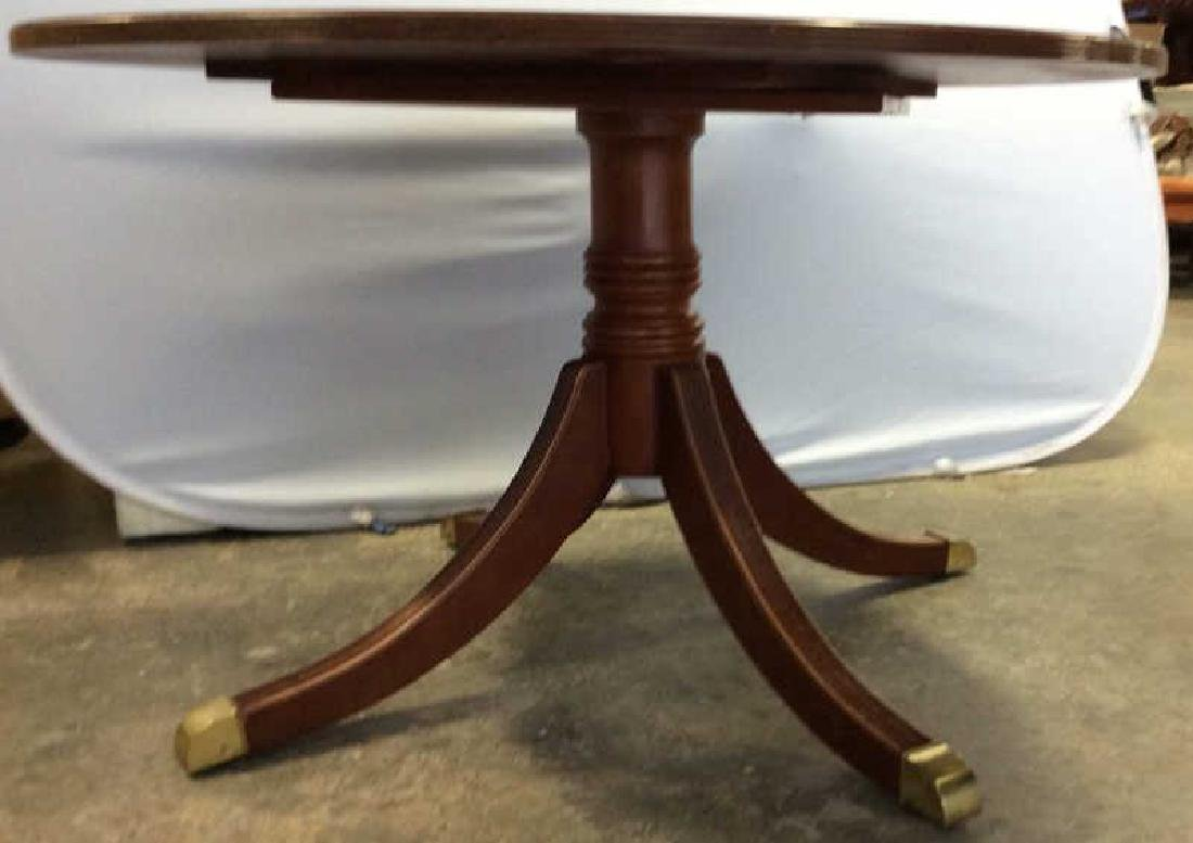 Bernhardt Polished Cherry Round Dining Table - 4