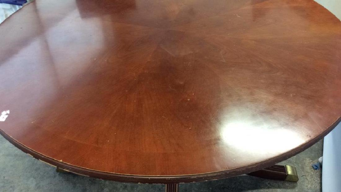 Bernhardt Polished Cherry Round Dining Table - 9