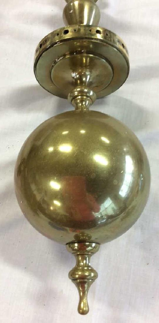 Antique 18th C Period Brass Chandelier 8 Arms - 3
