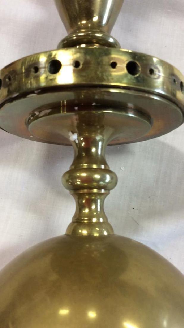 Antique 18th C Period Brass Chandelier 8 Arms - 5