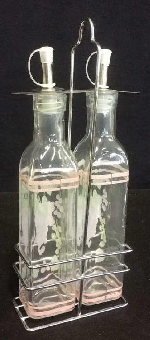 Oil and Vinegar Set Grape Motif New - 2
