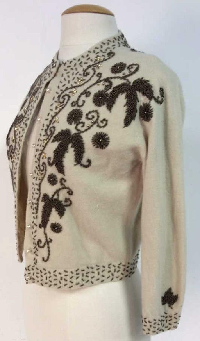 Vintage Cashmere Blend Beaded Sweater - 3