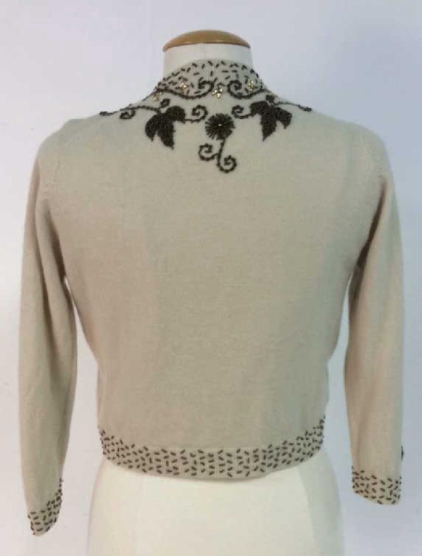Vintage Cashmere Blend Beaded Sweater - 4
