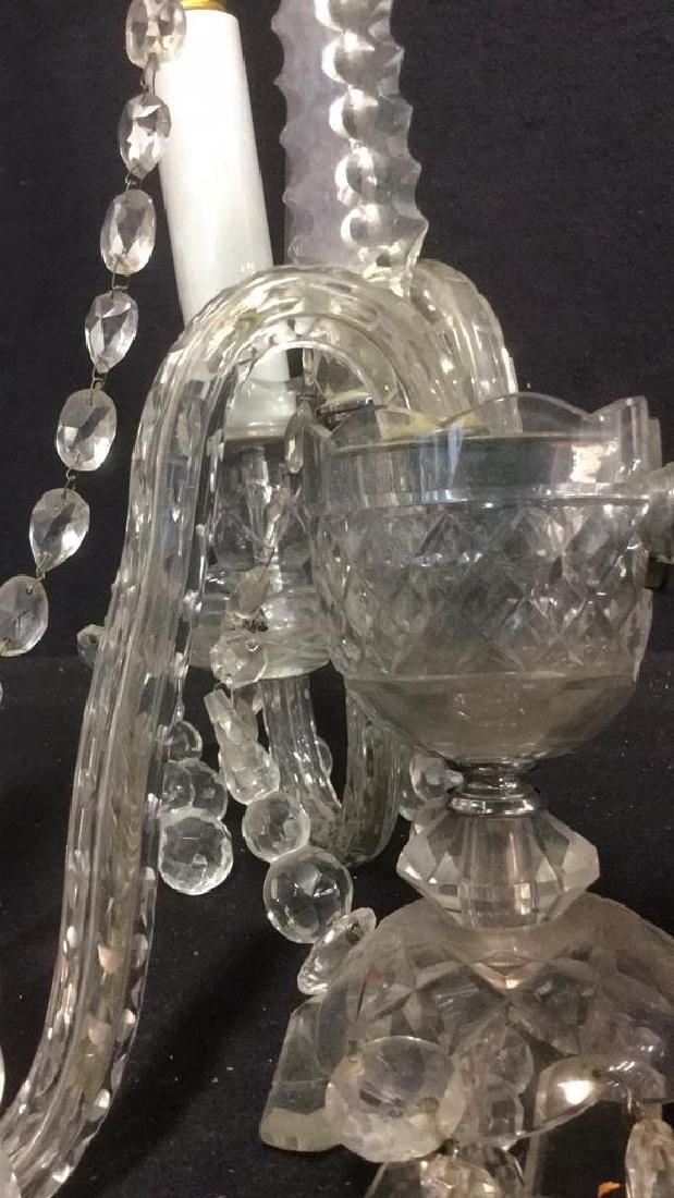 Vintage Crystal Candelabra Wall Sconce - 4
