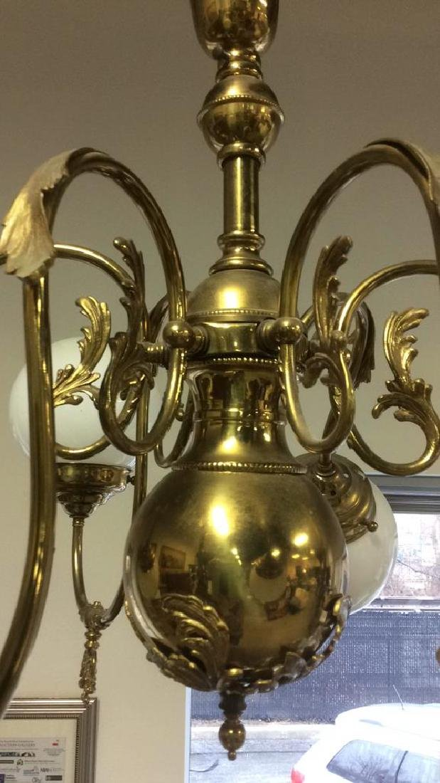 Vintage Brass Chandelier - 3