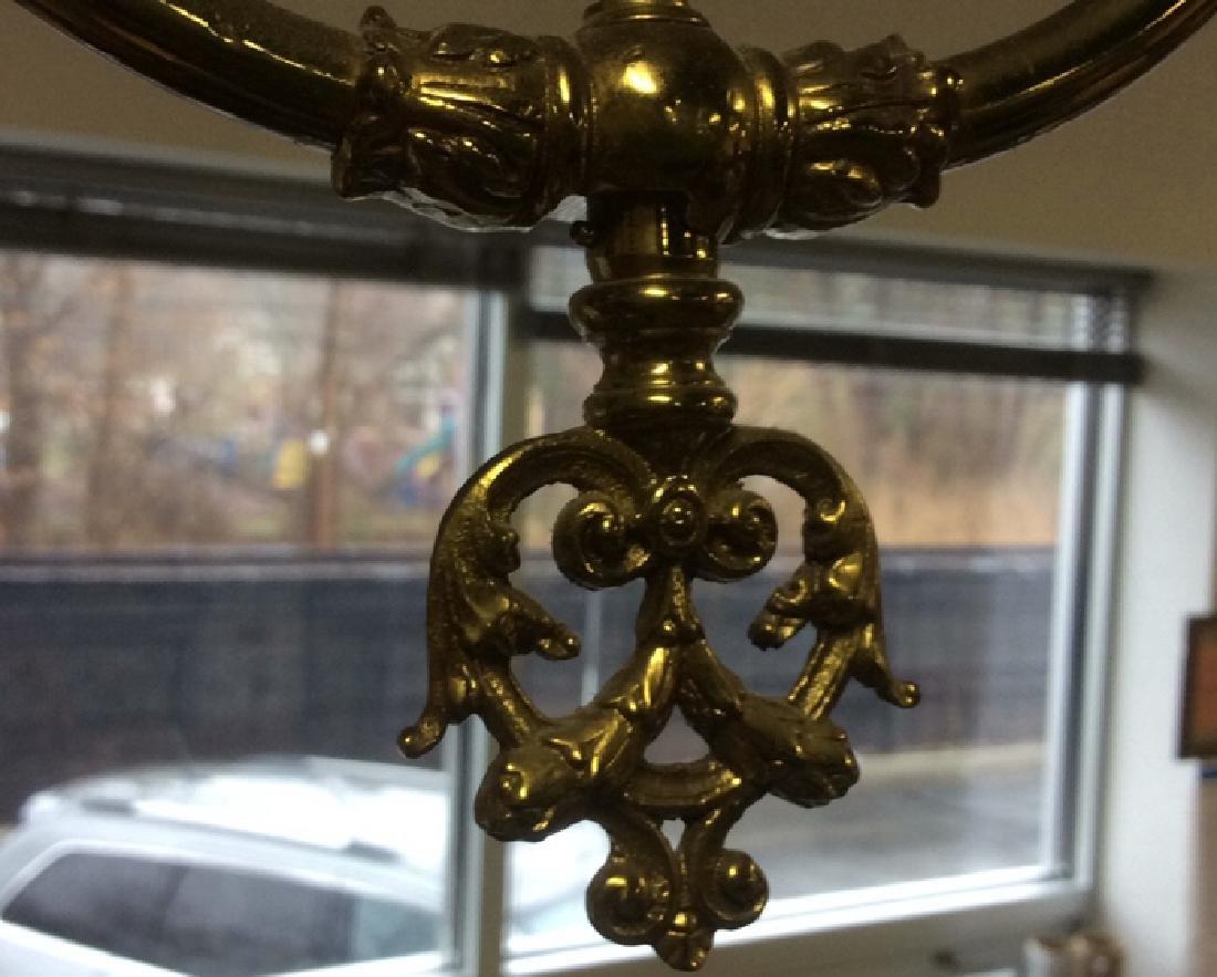 Vintage Brass Chandelier - 4