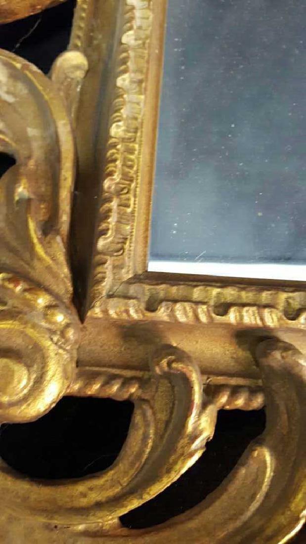 Antique Gold Leaf Carved Birds Mirror - 10