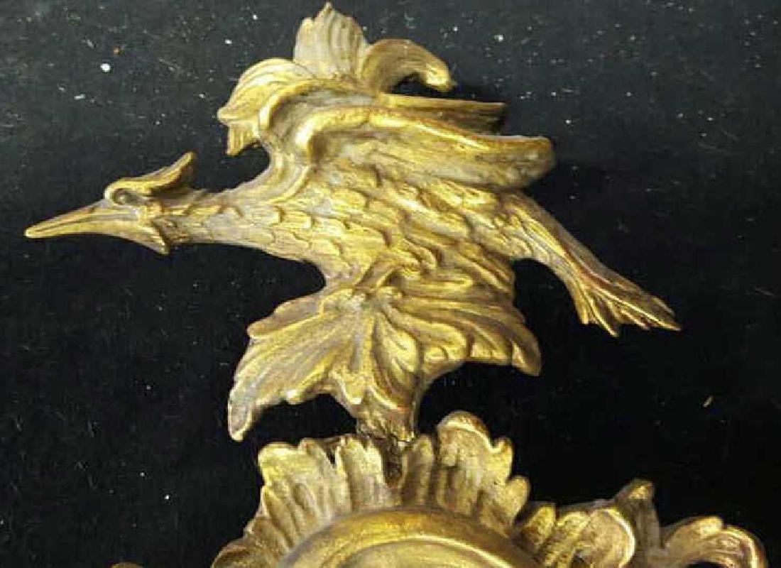 Antique Gold Leaf Carved Birds Mirror