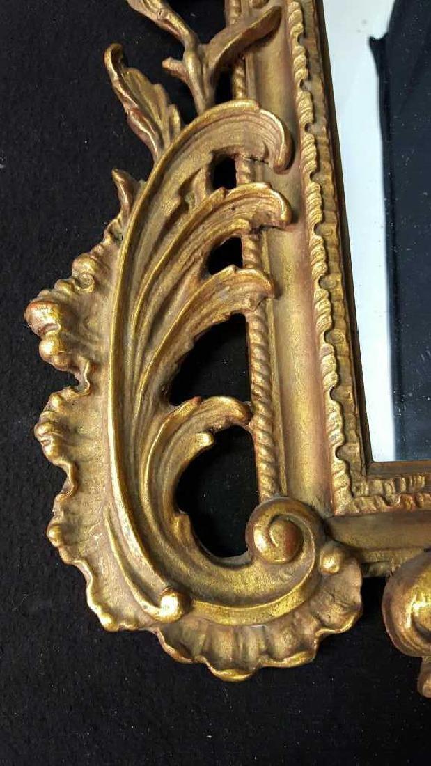 Antique Gold Leaf Carved Birds Mirror - 3