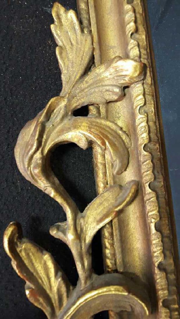 Antique Gold Leaf Carved Birds Mirror - 4