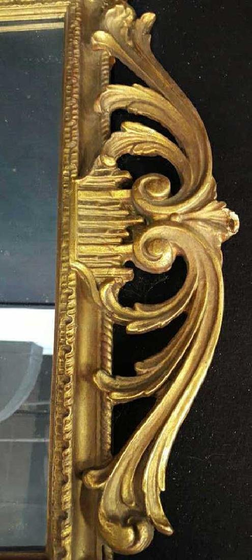 Antique Gold Leaf Carved Birds Mirror - 7