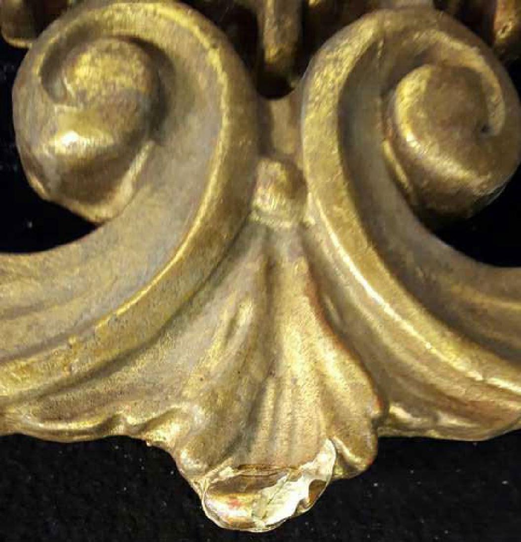 Antique Gold Leaf Carved Birds Mirror - 8