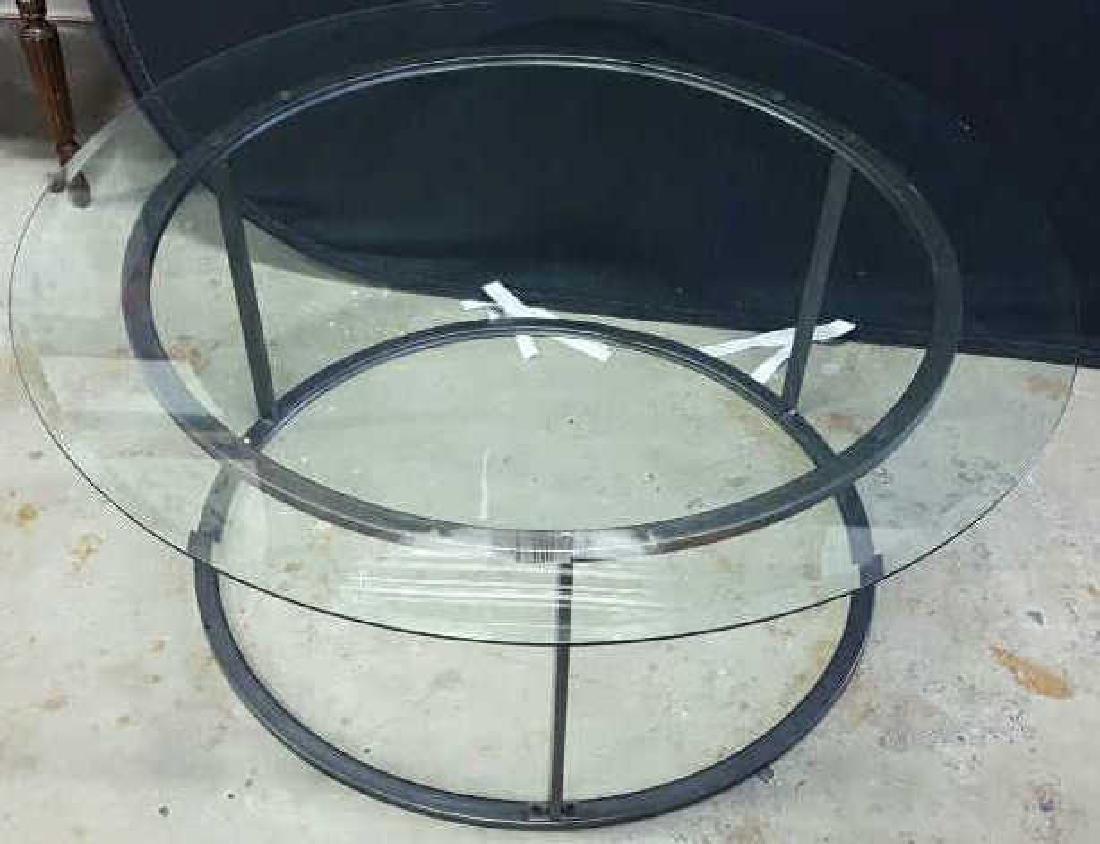 Glass Top Metal Coffee Table