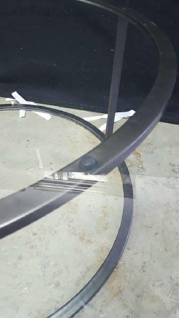 Glass Top Metal Coffee Table - 6