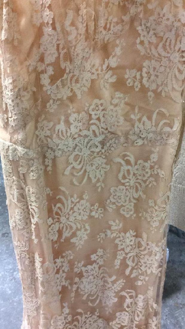 Vintage Lace Silk Ladies Dress and Sweater - 3
