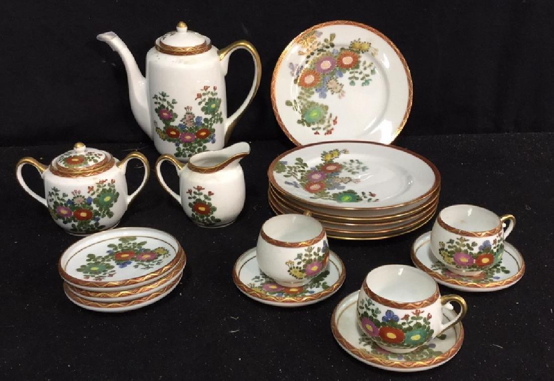 Japanese Kutani China Tea Set