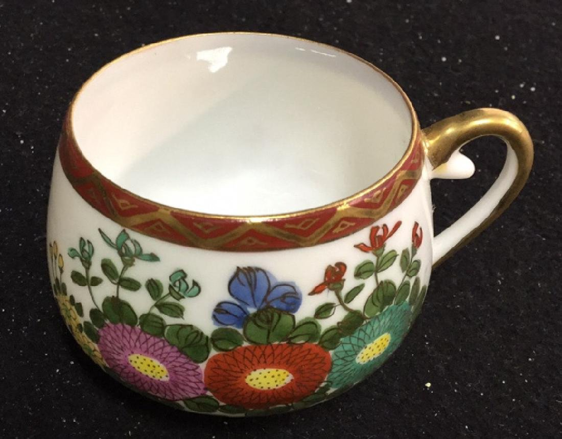 Japanese Kutani China Tea Set - 4