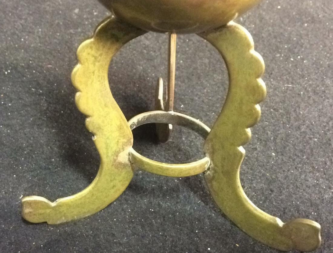 Brass 3-legged Miniature Vintage Vases Set of 2 - 4