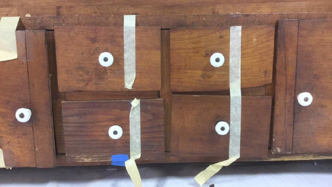 Antique Country Pine Hanging Cupboard with Drawers - 3