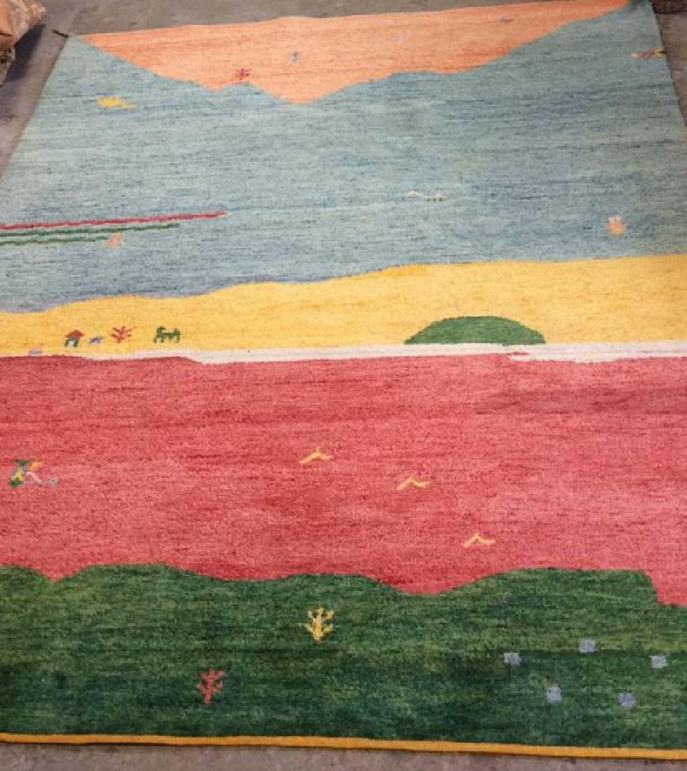 Wool Folk Art Scene Carpet