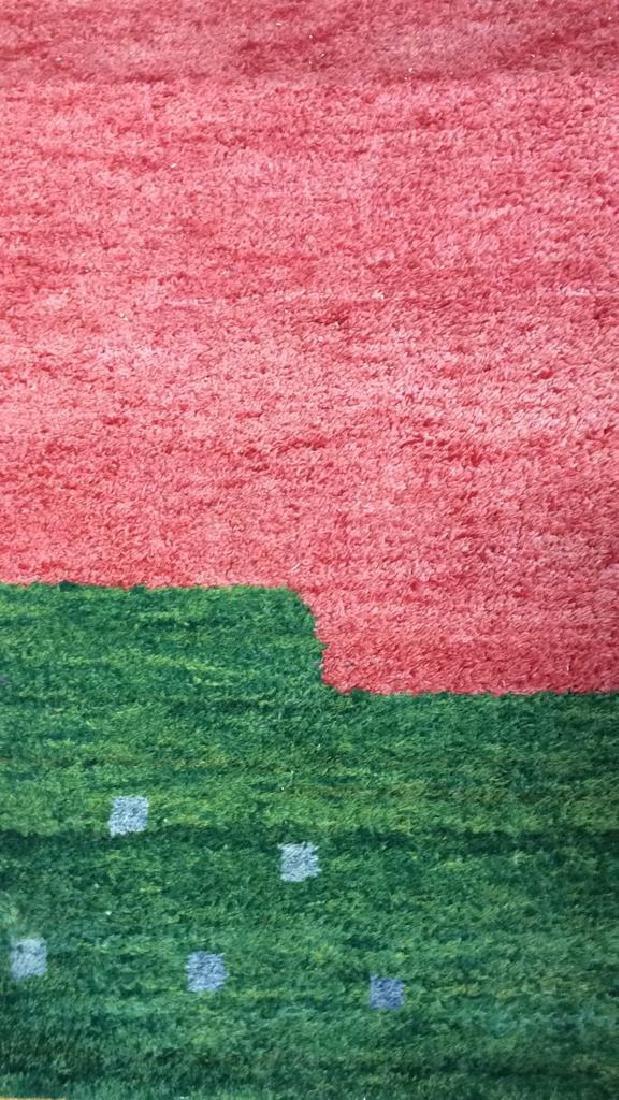 Wool Folk Art Scene Carpet - 4