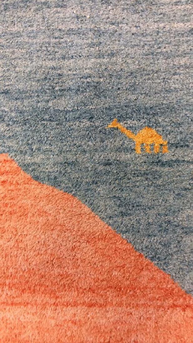 Wool Folk Art Scene Carpet - 6