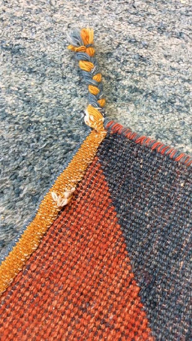 Wool Folk Art Scene Carpet - 7