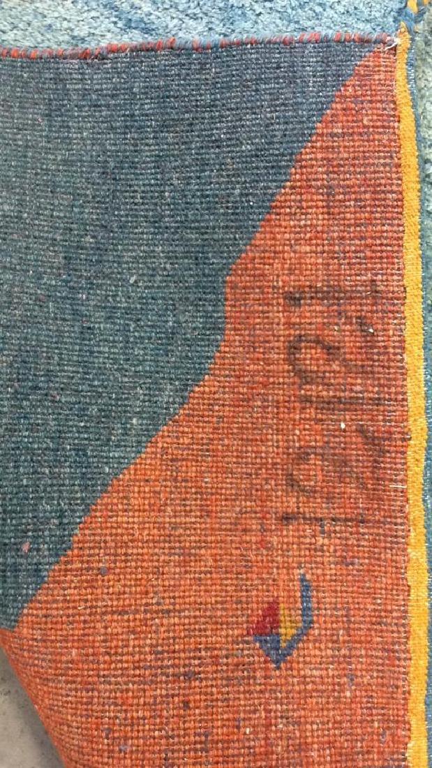 Wool Folk Art Scene Carpet - 8