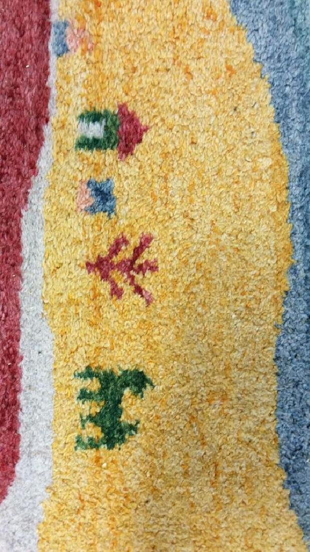 Wool Folk Art Scene Carpet - 9