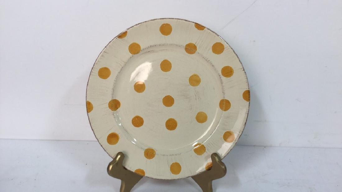 Group Lot Of Pottery Mugs, Plates, Lidded Bowl - 2
