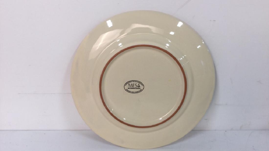 Group Lot Of Pottery Mugs, Plates, Lidded Bowl - 3
