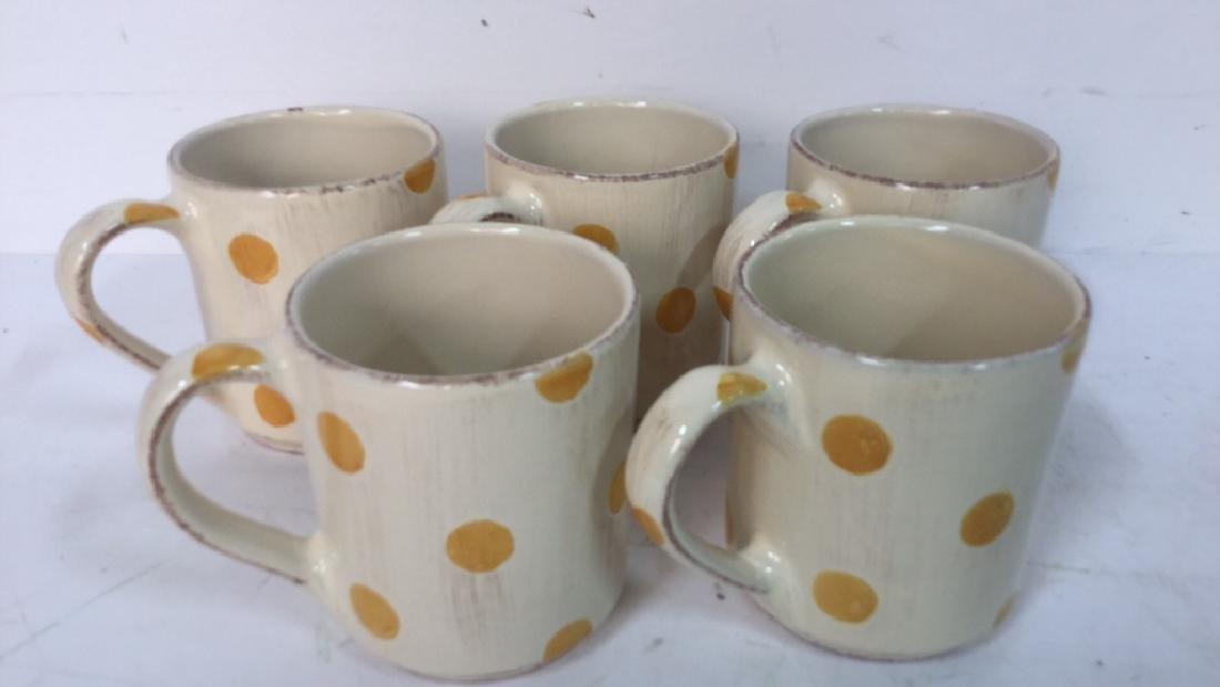 Group Lot Of Pottery Mugs, Plates, Lidded Bowl - 4
