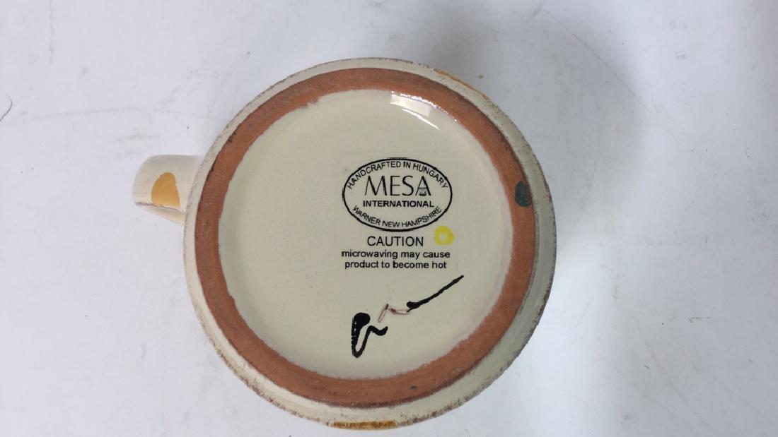 Group Lot Of Pottery Mugs, Plates, Lidded Bowl - 5