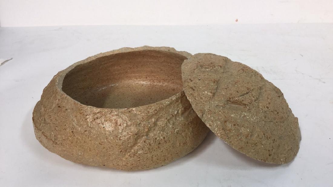 Group Lot Of Pottery Mugs, Plates, Lidded Bowl - 7