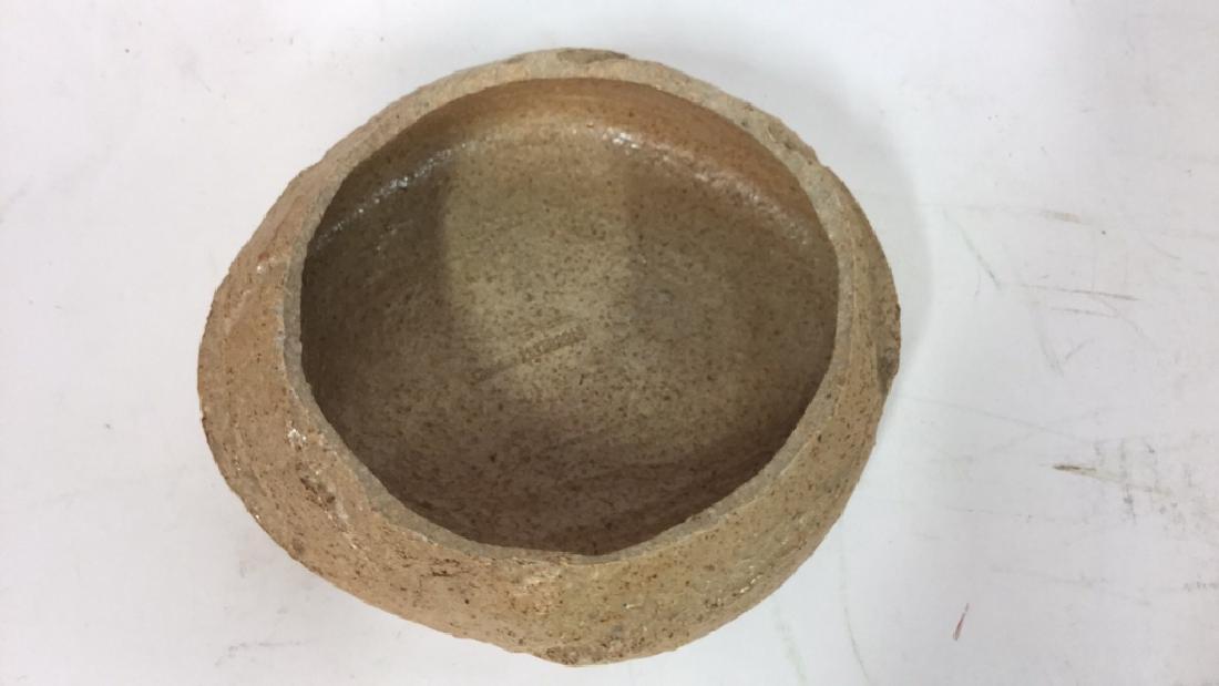 Group Lot Of Pottery Mugs, Plates, Lidded Bowl - 8