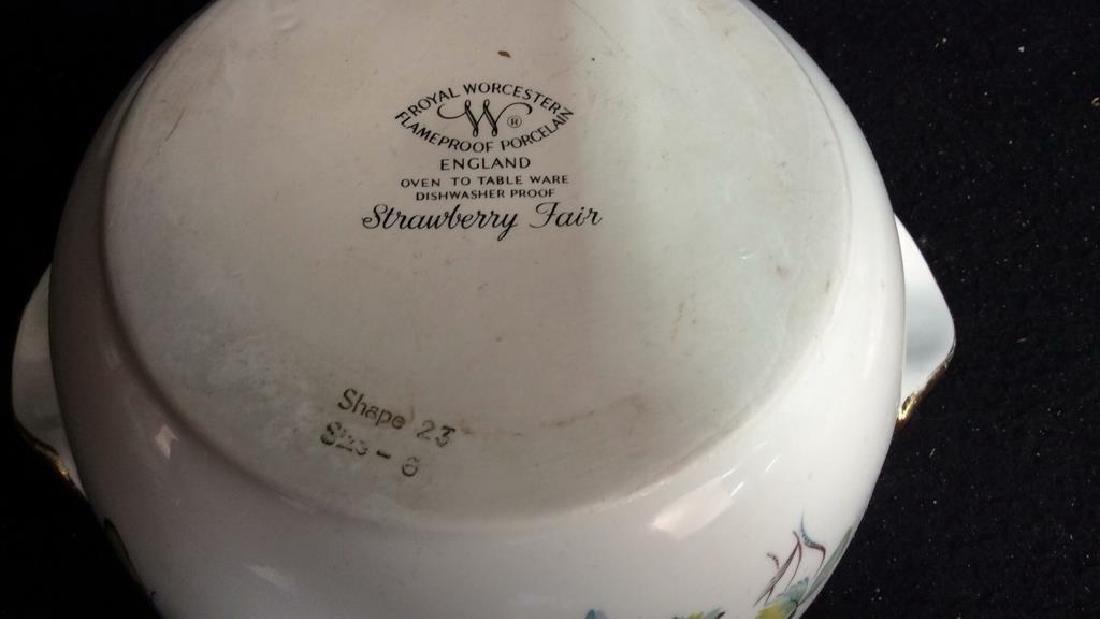 2 Gold Trimmed Royal Worcester Turreens Pitcher - 5