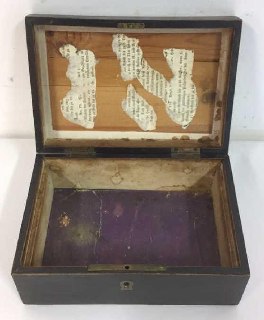 3 Antique Boxes With Hinged Lids - 10