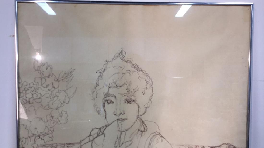 Framed Drawing S Bernhardt By Harrington - 5