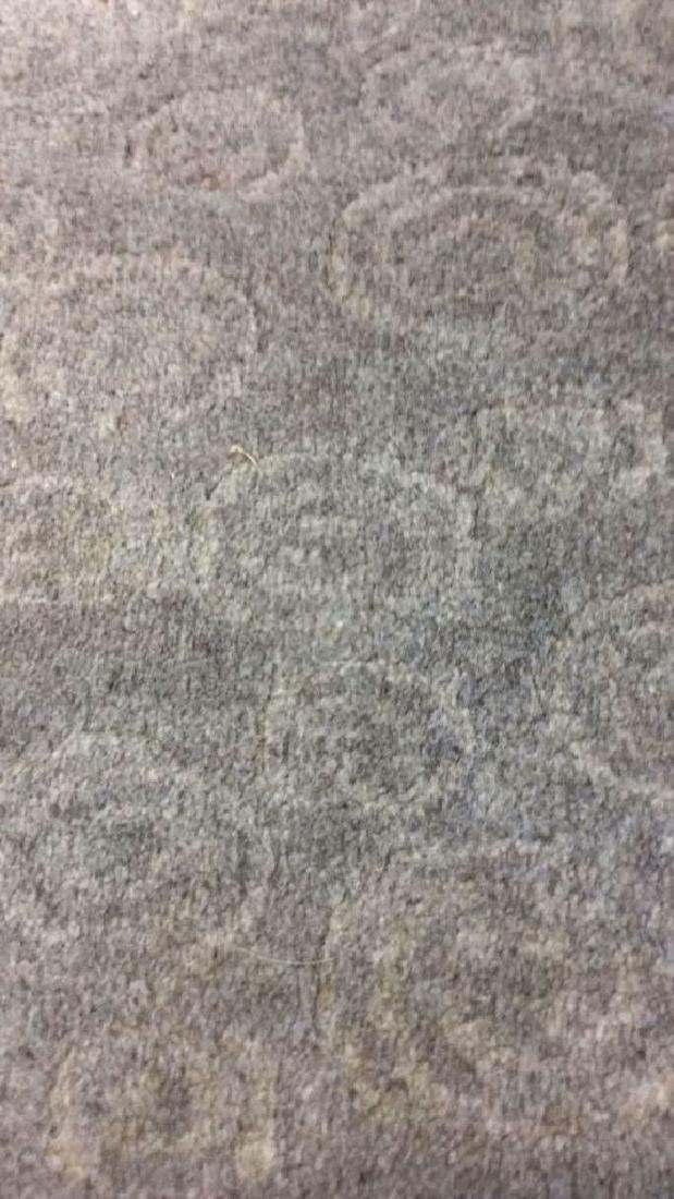 Tone on Tone Celadon Green Wool Carpet - 5