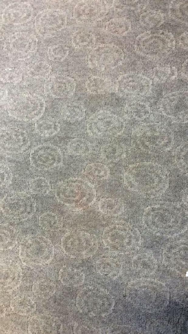 Tone on Tone Celadon Green Wool Carpet - 6