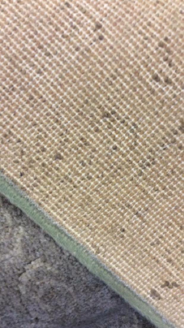Tone on Tone Celadon Green Wool Carpet - 8